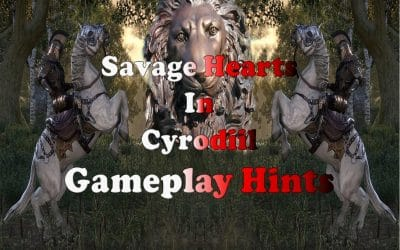 Cyrodiil Game Play Hints