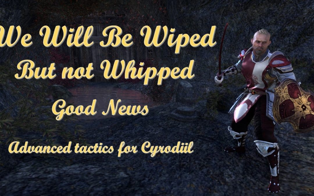 We will be wiped, but not whipped.